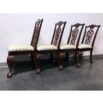 Image of Lexington Chippendale Mahogany Ball Claw Dining Chairs- Set of 4