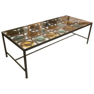 Spectacular Spanish Handblown Glass Coffee Table