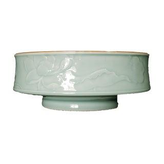 Hand Carved Celadon Bowl