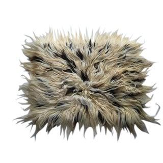 """Handmade Natural Wool Shaggy Tulu Rug - 3'9"""" X 2'11"""""""