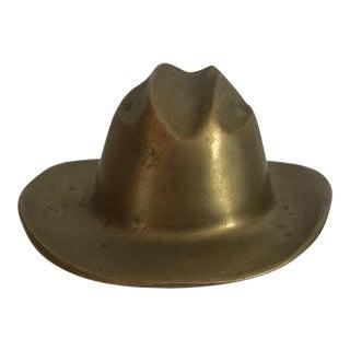 Brass Cowboy Hat Figurine