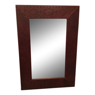 Ralph Lauren Studded Leather Mirror