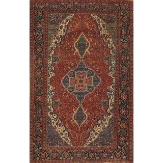 "Antique Persian Ferahan Rug - 4'2"" X 6'3"""