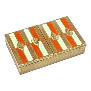 French Art Deco Enamel Brass Lidded Box