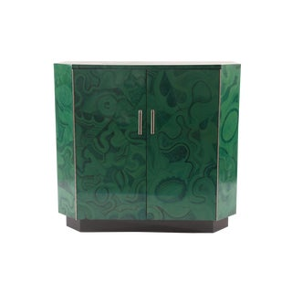 Hand-Painted Faux Malachite and Bakelite Chest