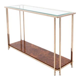 Gold Layered Console Table
