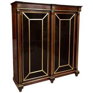 19th Century Russian Neoclassical Bookcase Cabinet