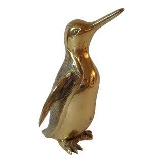 Mid-Century Brass Penguin