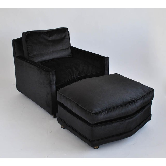 Image of Baker Furniture Vintage Lounge Chair & Ottoman