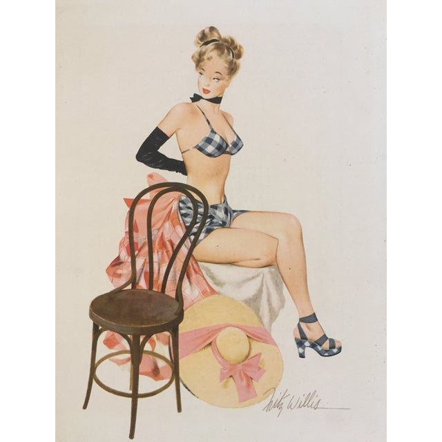 1948 Original Fritz Williams Pin Up Girl - Image 1 of 4