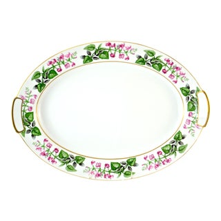 Japanese Pink & Green Floral Tray