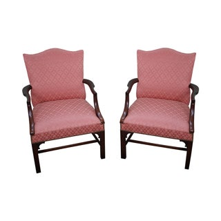 Antique 1930 Chippendale Armchairs - A Pair