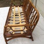 Image of Ficks Reed Vintage Rattan Bamboo Sofa
