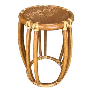 McGuire Rattan End Table