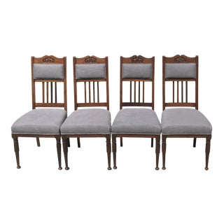 Vintage Craftsman Mahogany Dining Chairs - Set of 4