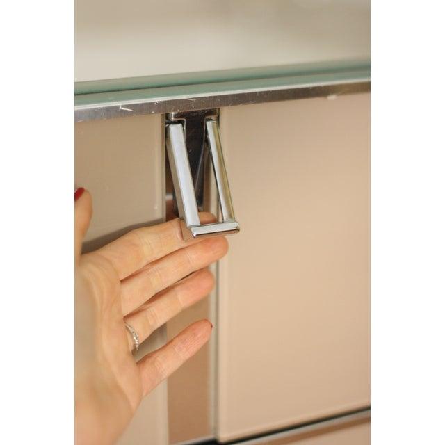 Image of Italian Smoked Glass and Chrome Dresser