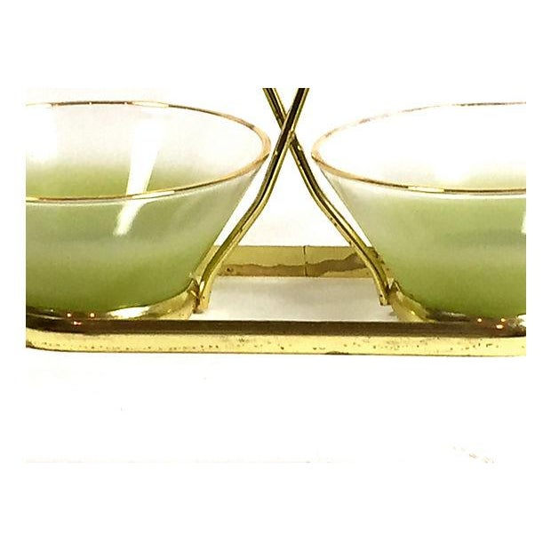 Blendo Green Frosted Glass Serving Set - Image 3 of 5