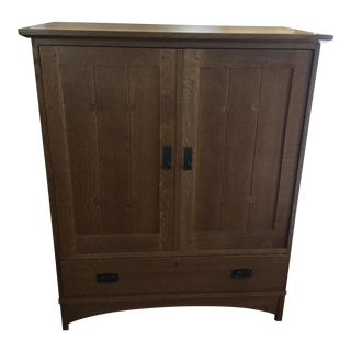 Stickley Mission Style Entertainment Armoire