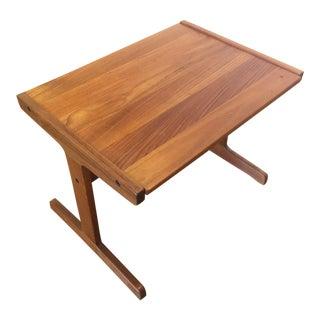 Danish Modern Solid Teak End Table