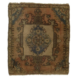 Hand-Knotted Wool Turkish Rug - 3′ × 3′6″