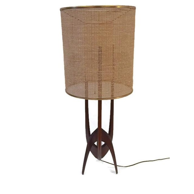 Mid-Century Atomic Walnut Console Lamp - Image 2 of 8