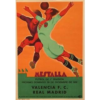 Original Vintage 1931 Soccer Poster for Spain