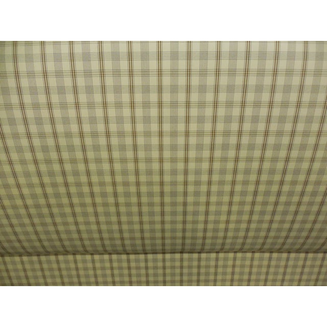 Upholstered Plaid King Headboard - Image 4 of 5