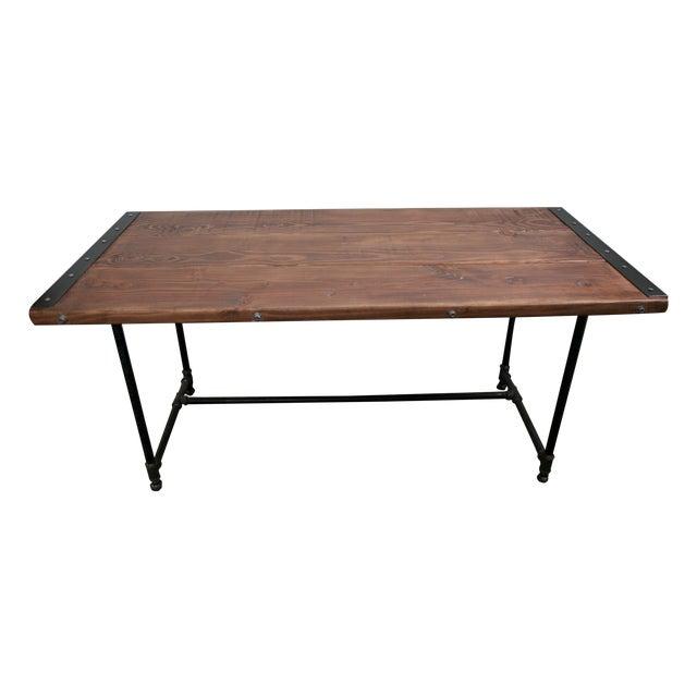 Solid Wood Industrial Desk - Image 1 of 8