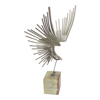 Curtis Jere Chromed Steel Bird Sculpture