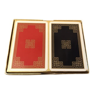 Vintage Greek Key Boxed Set Playing Card Decks