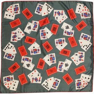"""""""21"""" Club Playing Cards Silk XXIX Scarf"""