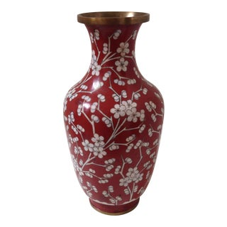 Red Cloisonné Vase