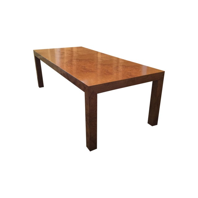 Image of Milo Baughman Burled Dining Table