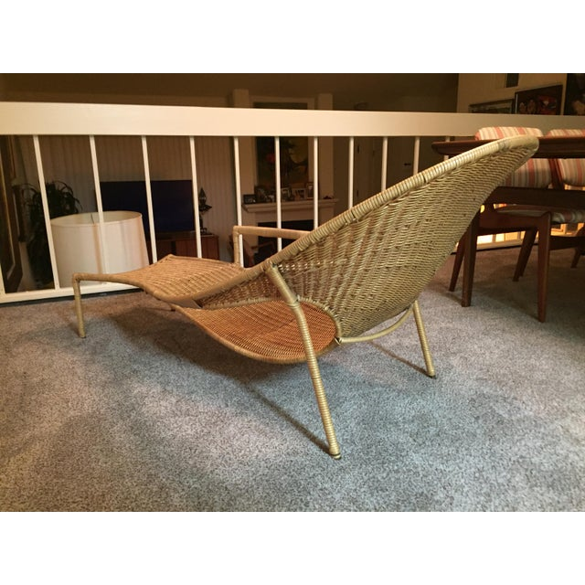 1950s Scarce Francis Mair Mid-Century Modern Rattan Low Slung Lounge Chair - Image 8 of 8