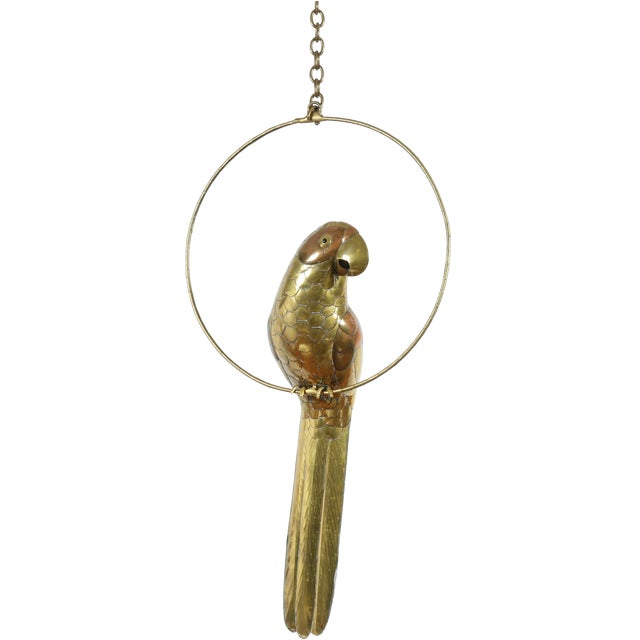 Image of Sergio Bustamante Brass & Copper Parrot Sculpture