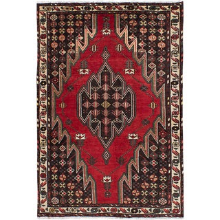 "4'4"" x 6'5"" Hamadan Vintage Persian Rug"