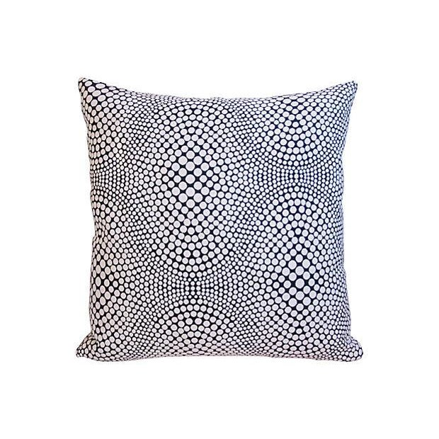 Modern Geometric Abstract Dot Pillows - A Pair - Image 5 of 7
