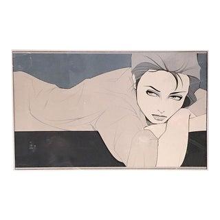 "Patrick Nagel ""Grey Lady"" Print"