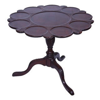 English Mahogany Tilt-Top Supper Table