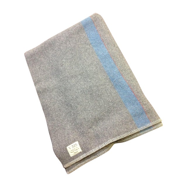 1944 Grey Wool Blanket - Image 1 of 7