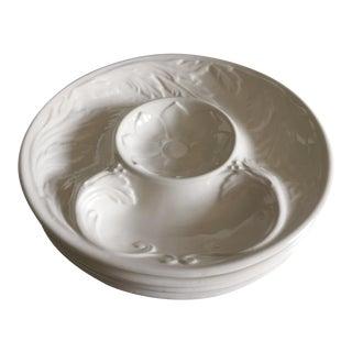 4 Vintage Creamware Artichoke Plates