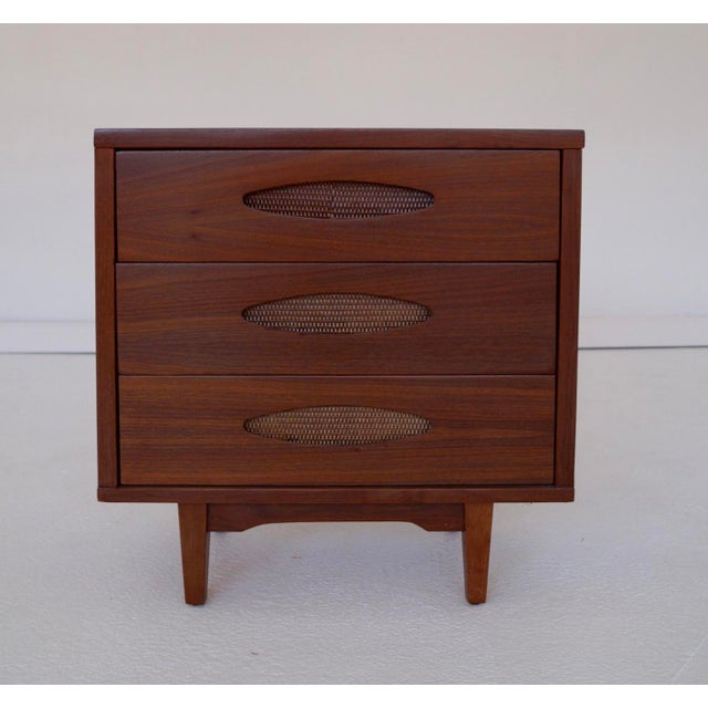 McCoy Furniture Mid-Century 3-Drawer Walnut Nightstand - Image 3 of 10