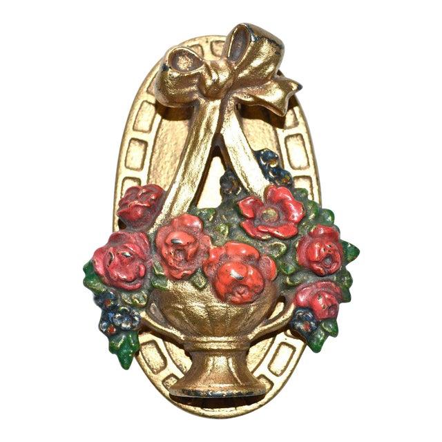 Hubley Flower Basket Door Knocker - Image 1 of 8