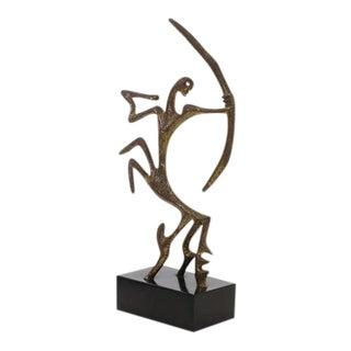 Frederick/Frederic Weinberg Bronze Modernist Sagittarius Sculpture