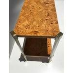 Image of Burlwood Console Table Attributed to Romeo Rega