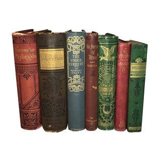 Antique Victorian Books - Set of 7
