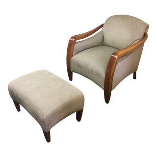 Picasso Arm Chair and Ottoman - A Pair