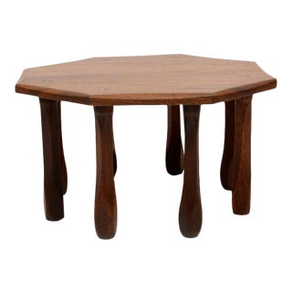 Octagon Solid Mahogany Side Table