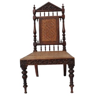 Antique Portuguese Carved Chair