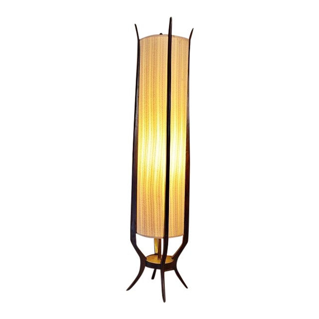 Mid Century Danish Modern Cylinder Floor Lamp Chairish